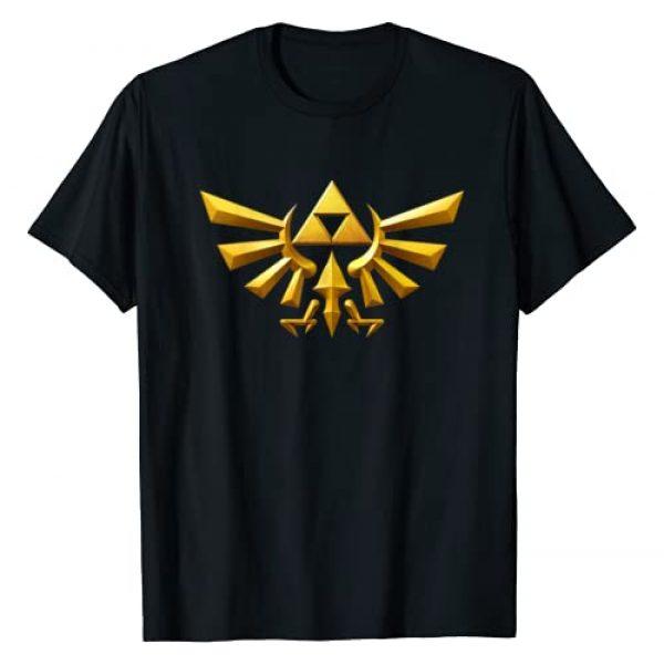 Legend of Zelda Graphic Tshirt 1 Nintendo Zelda Hyrule Crest Iconic Golden Triforce T-Shirt