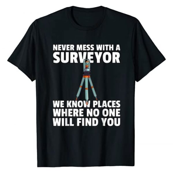Land Survey Surveying Gifts Graphic Tshirt 1 Land Recorder Technician Gift For Cartogropher Surveyor T-Shirt