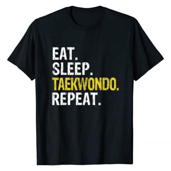 Eat Sleep Taekwondo Repeat Tee Co. Graphic Tshirt 1 Eat Sleep Taekwondo Repeat Gift T-Shirt
