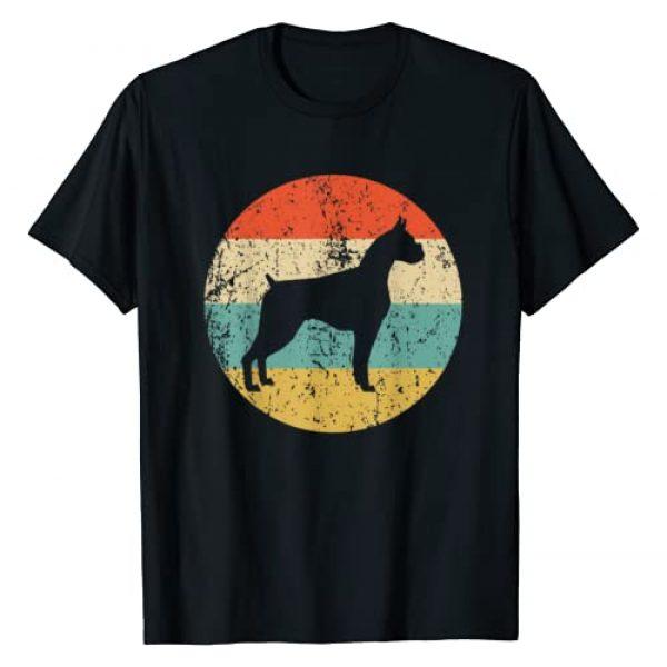 Vintage Retro Style T-Shirts Graphic Tshirt 1 Boxer Shirt - Vintage Retro Boxer Dog T-Shirt