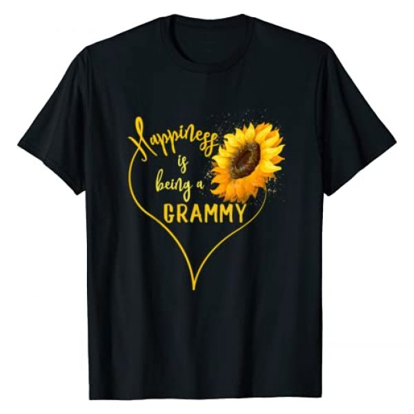 Love Grammy Funny Shirt Graphic Tshirt 1 Sunflower Heart Happiness Is Being A Grammy T-Shirt