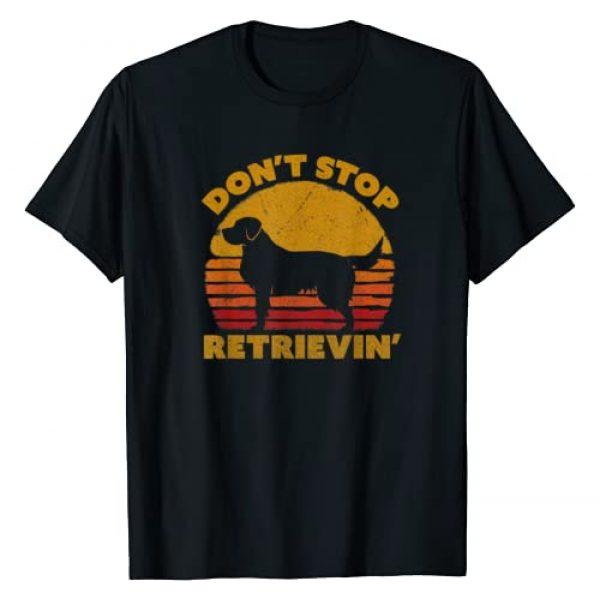 Pack A Punch Graphic Tshirt 1 Don't Stop Retrieving Shirt. Retro Golden Retriever TShirt