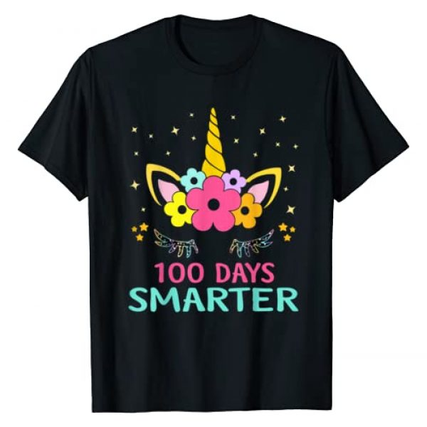 100th Days of School T-Shirt Graphic Tshirt 1 100 Days of School Shirt Unicorn Girls Costume Gift Tee T-Shirt
