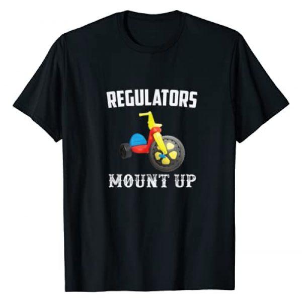 BUBL TEES SCHOOL Graphic Tshirt 1 Regulators Mount Up Funny Hip Hop Rap T-Shirt