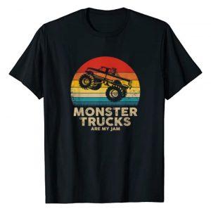 Vintage Monster Truck Tees Graphic Tshirt 1 Cool Vintage Monster Truck Are My Jam Retro Sunset T-Shirt