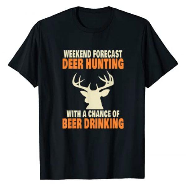 Fun Deer Season Hunter Gifts For Beer Drinkers Graphic Tshirt 1 Funny Deer Hunting T-Shirt