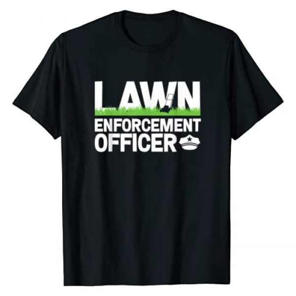 InGENIUS Landscaper Gifts Graphic Tshirt 1 Lawn Enforcement Officer Funny Landscaper Lawn Mower T-Shirt