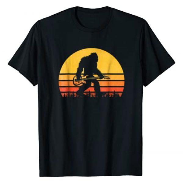 Vintage Bigfoot Guitar Gift Shirt Graphic Tshirt 1 Retro Bigfoot Guitar T-Shirt, Vintage Sasquatch Rocker Tee