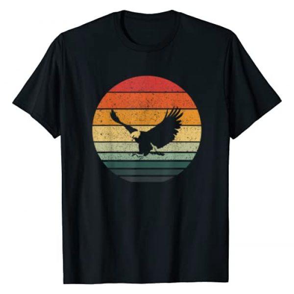 Eagle Hawk Vintage Sunset Tees Graphic Tshirt 1 Eagle Hawk Vintage Retro Art Design T-Shirt