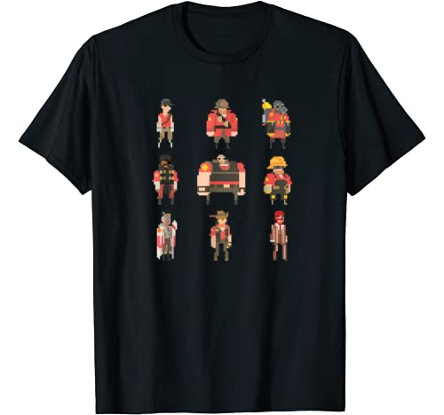 """Team Fortress 2 Graphic Tshirt 1 """"Team Fortress Pixel"""" t-shirt - TRS008"""