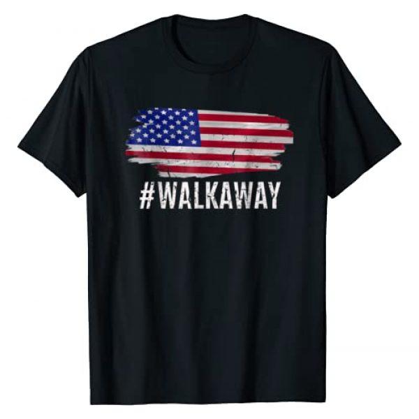 #walkaway WalkAway American Flag TShirt Graphic Tshirt 1 #WALKAWAY Hashtag Walk Away Funny Political Movement T-Shirt