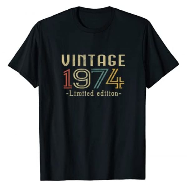 Vintage 1974 . Graphic Tshirt 1 Vintage 1974 46th Birthday 46 Years Old Gift T-Shirt