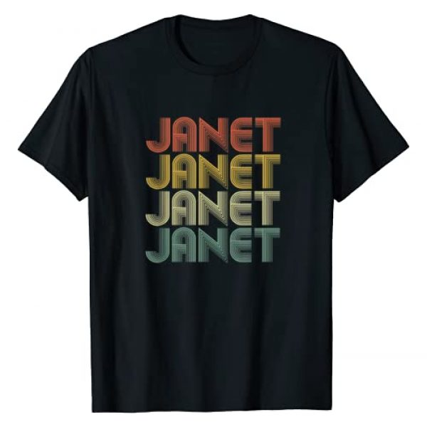 Family Gifts Co. Graphic Tshirt 1 Janet Retro Personalized First Name 1970s Vintage T-Shirt