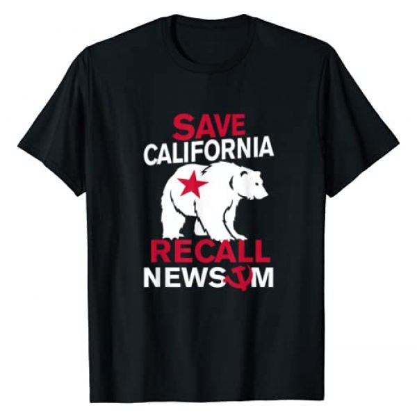 TNTT Funny Gifts Graphic Tshirt 1 Save California Recall Newsom Conservative Political T-Shirt