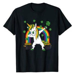 Mr Ben St Patricks Day Graphic Tshirt 1 Dabbing Unicorn St Patricks Day Irish Dab Girls Kids T-Shirt