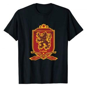 Harry Potter Graphic Tshirt 1 Gryffindor Broomstick Badger Logo T-Shirt