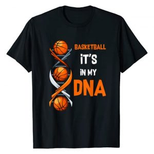 Playing Basketball Funny Gift Team Tee Graphic Tshirt 1 Basketball It's In My DNA Funny Player Coach Team Sport T-Shirt