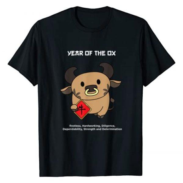 Cute Chinese Zodiac Lunar New Year Tees Graphic Tshirt 1 Year of The Ox Chinese Zodiac Lunar new year T-Shirt