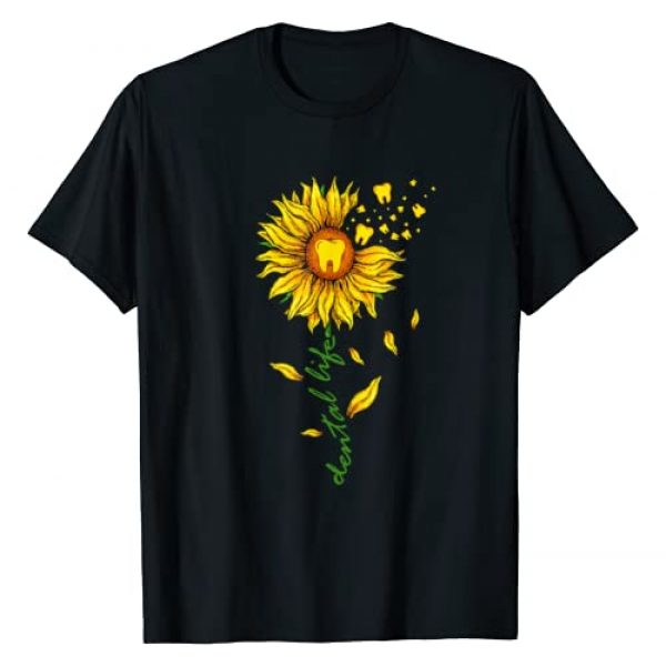 Funny Dental Assistant Dentist Gifts Graphic Tshirt 1 Funny Sunflower Dental Life Dental Assistant Teeth Gift Girl T-Shirt
