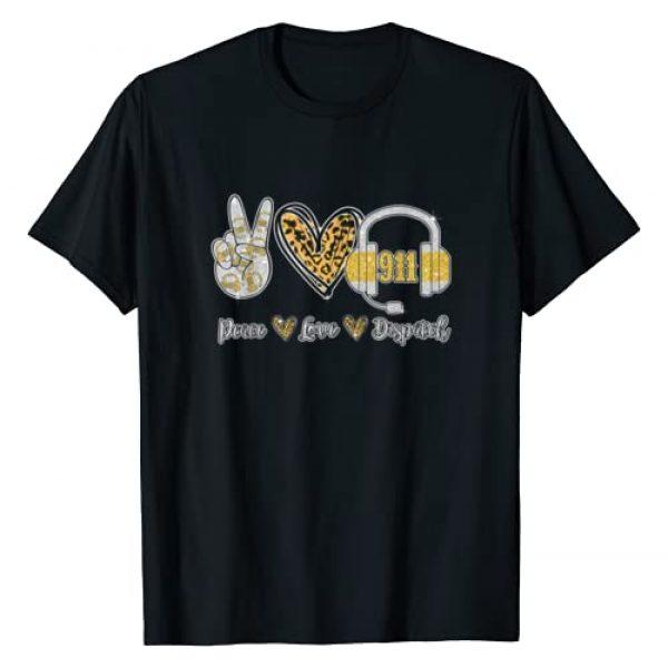 911 Dispatcher T Shirt Graphic Tshirt 1 Peace Love 911 Dispatcher Cute Dispatcher Gifts T-Shirt
