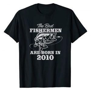 BORN Graphic Tshirt 1 Gift for 10 Year Old: Fishing Fisherman 2010 10th Birthday T-Shirt