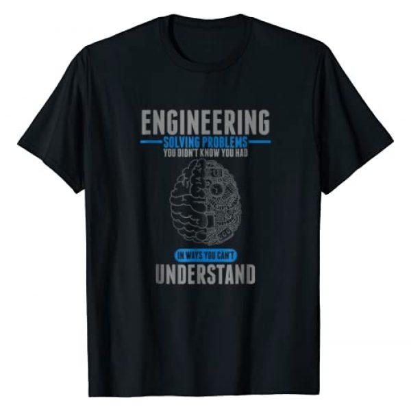 Engineer T-Shirts Graphic Tshirt 1 Engineer Solving Problems Funny Engineering T-Shirt