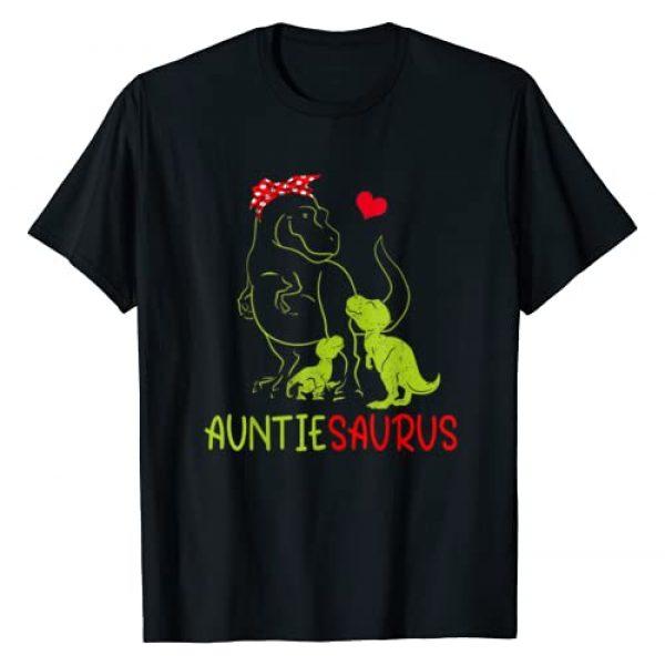 Saurus Family Love Gift T Shirt Graphic Tshirt 1 Auntiesaurus T Shirt T Rex Auntie Saurus Dinosaur Women Mom T-Shirt