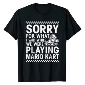 Mario Kart Graphic Tshirt 1 Nintendo Mario Kart Checkered Sorry Graphic T-Shirt