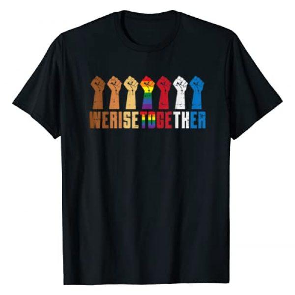 BoredKoalas Equality Shirts LGBT Black Pride Gift Graphic Tshirt 1 We Rise Together LGBT Gay Pride Fist Black Lives Matter BLM T-Shirt