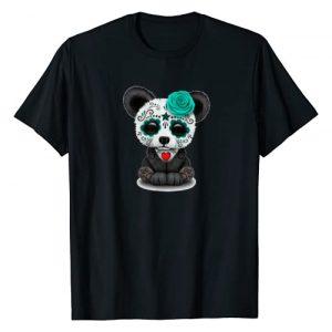 AlexaMerch Sugar Skulls Graphic Tshirt 1 Sugar Skull Panda Day Of The Dead Halloween T-Shirt