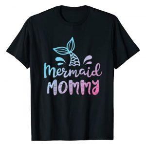 Mermaid Squad Co Graphic Tshirt 1 Mermaid Mommy Funny Women Mom Mama Family Matching Birthday T-Shirt