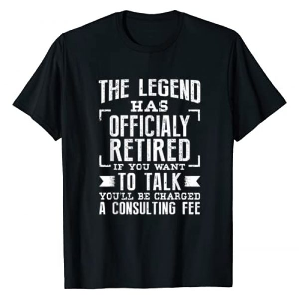 Retirement Shirts Graphic Tshirt 1 The Legend Has Officially Retired Funny Retirement T-Shirt T-Shirt