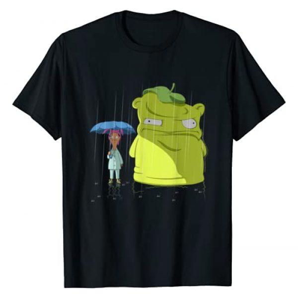 Bob's Burgers Graphic Tshirt 1 Louise & Kuchi Kopi Rain Portrait T-Shirt