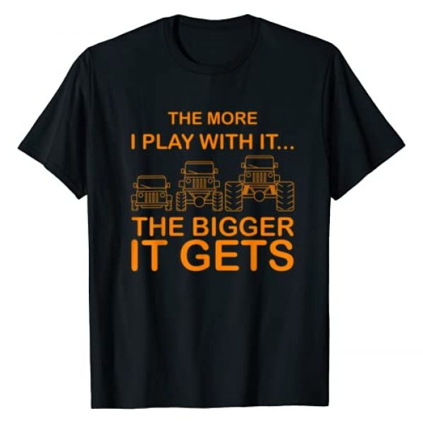 Funny The More I Play With It Gift Design Graphic Tshirt 1 Cool The More I Play With It...The Bigger It Gets Men T-Shirt