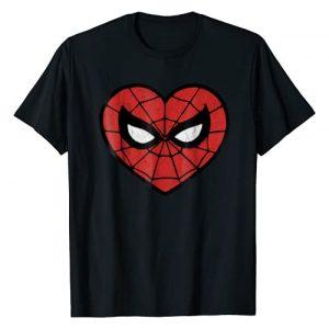 Marvel Graphic Tshirt 1 Spider-Man Face Mask Valentine's Heart Logo T-Shirt