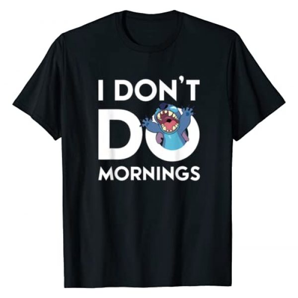 Disney Graphic Tshirt 1 Stitch Don't Do Mornings T-Shirt