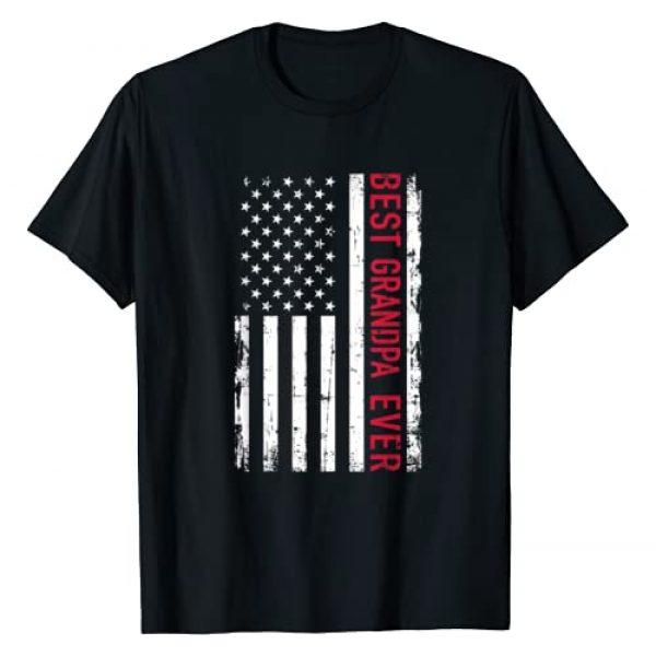 Grandpa Gifts 4EVER Graphic Tshirt 1 Best grandpa ever US american flag T-Shirt
