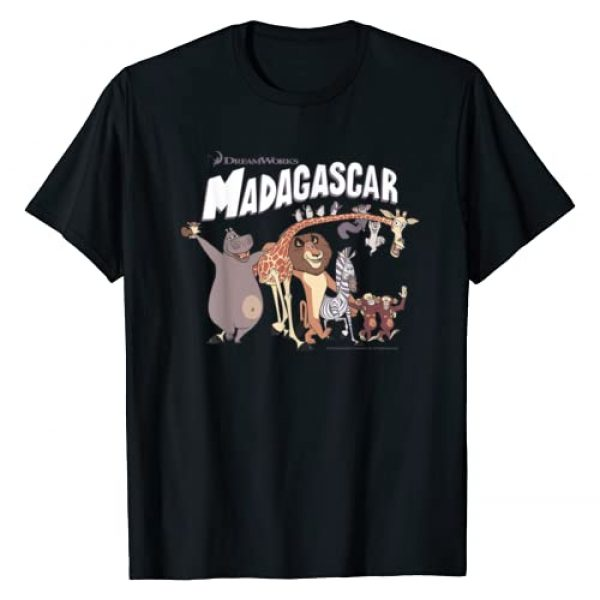 Madagascar Graphic Tshirt 1 Cartoon Group Shot Movie Logo T-Shirt