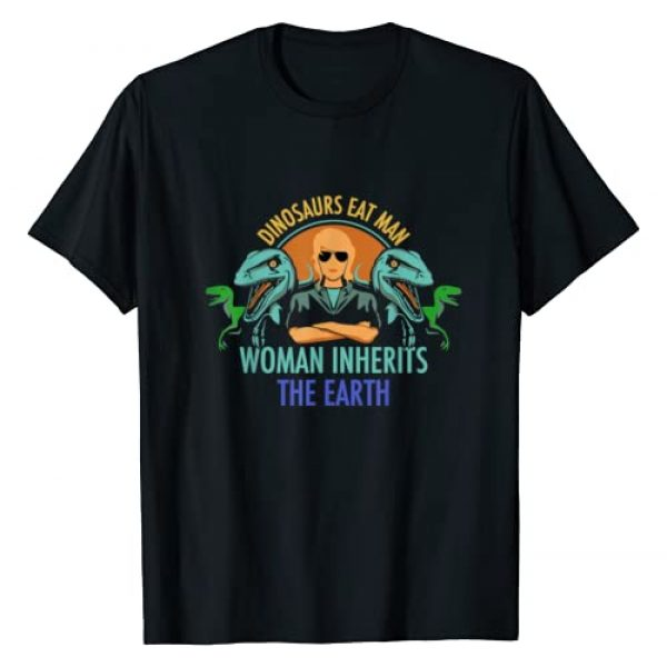 Funny Dinosaurs Eat Man Shirts Graphic Tshirt 1 Cool Dinosaurs Eat Man Woman Inherits The Earth T Shirt