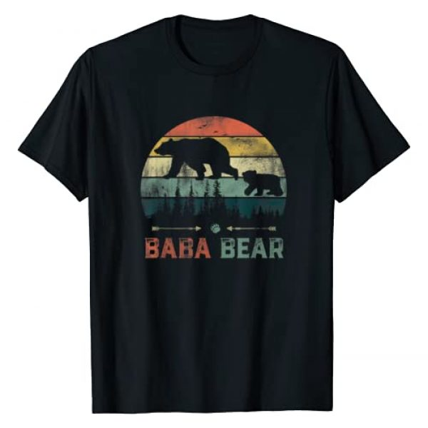 Baba Bear Father's Day T-Shirt Graphic Tshirt 1 Vintage Baba Bear Wildling Father's Day T-Shirt