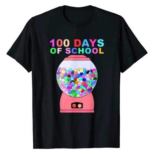 100 Days of School Gifts Graphic Tshirt 1 100 days of school gumball machine for kids or teachers Gift T-Shirt