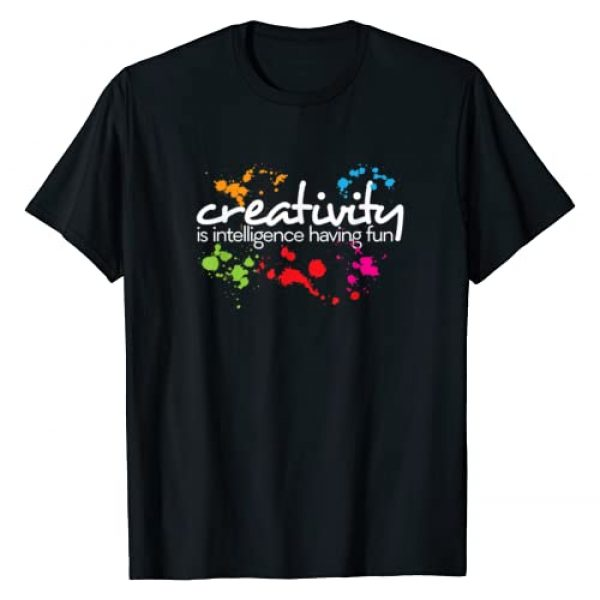 Tshirts By E2 Graphic Tshirt 1 Creativity is intelligence having fun colorful art t-shirt