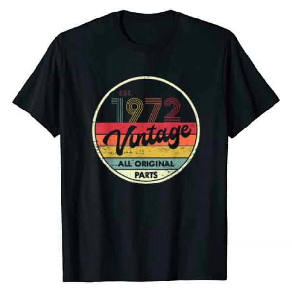 Retro Vintage 1972 TShirt 48th Birthday Tees Graphic Tshirt 1 Retro Vintage 1972 TShirt 48th Birthday Gifts 48 Years Old T-Shirt
