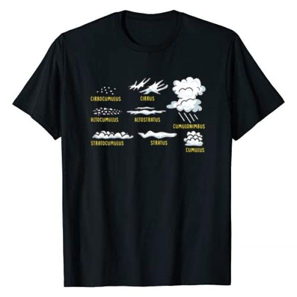 Powered by Education Graphic Tshirt 1 Cloud Types Science Apparel Gift For Teachers and Kids T-Shirt