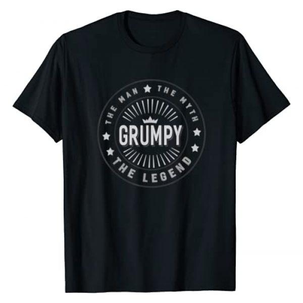 Graphic 365 Graphic Tshirt 1 Grumpy The Legend Grandpa Men Funny Gift T-Shirt