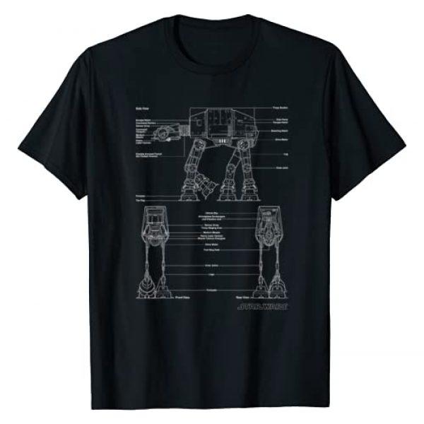 Star Wars Graphic Tshirt 1 ATAT Schematic Poster T-Shirt
