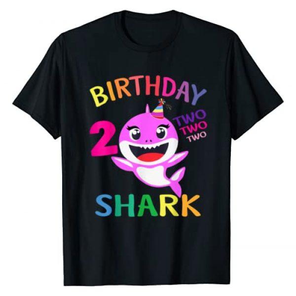 Funny Kids Shark Shirt.Zp Graphic Tshirt 1 Kids Baby Shark 2 Years Old 2nd Birthday Doo Doo Shirt T-Shirt