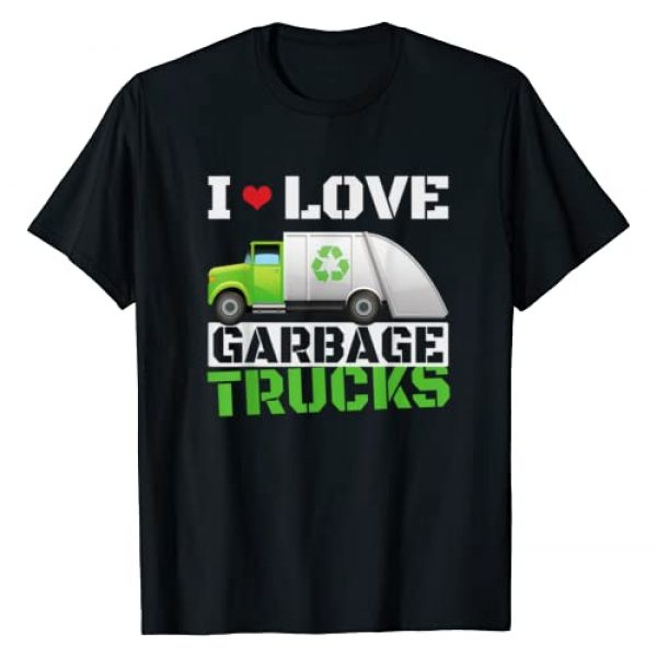 Funny Kids Loves Garbage Day Tee Shirts Graphic Tshirt 1 I Heart Love Garbage Trucks T-Shirt Toddler Boys Kids Tees