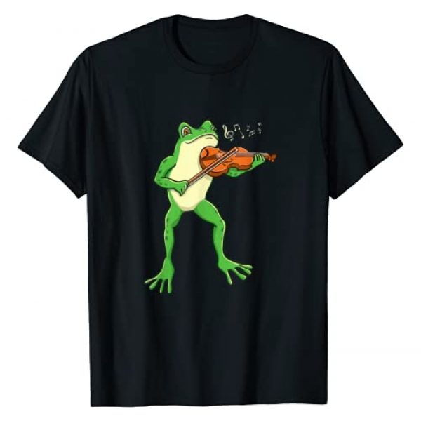 Frog Playing Violin Graphic Tshirt 1 Violinist Gift T-Shirt