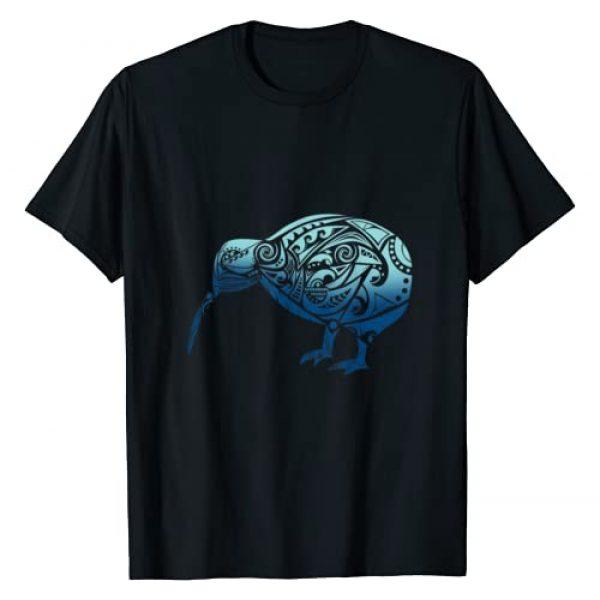 Maori Gifts I Vicoli Merch Graphic Tshirt 1 Polynesia Maori Kiwi Bird Ocean Blue New Zealand Gift Idea T-Shirt